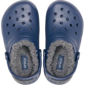 Crocs Classic Lined Clogs Niños, azul/gris